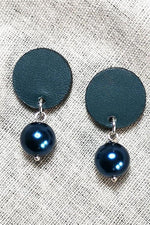 Eve Pearl Petrol Earrings