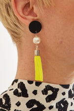 Exclusive: Iris Tassel Dot Earrings