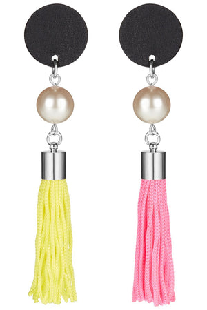 Load image into Gallery viewer, Exclusive: Iris Tassel Dot Earrings - Jacynth London at The Bias Cut
