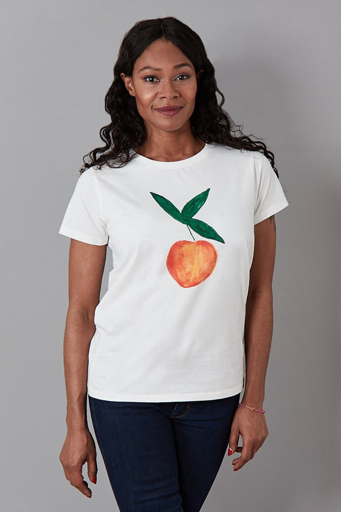 Feeling Peachy Cotton T-Shirt - Fabienne Chapot