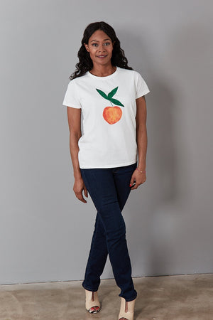 Load image into Gallery viewer, Feeling Peachy Cotton T-Shirt - Fabienne Chapot at The Bias Cut