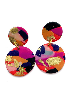 Fire & Flood Medium Earrings - No Shrinking Violet at The Bias Cut
