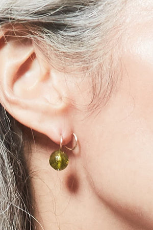 Gem Curl Earrings (available in 5 semi-precious stones) - Gem & Tonic at The Bias Cut