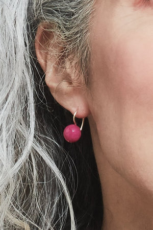 Gem Hook Earrings (available in 5 semi-precious stones) - Gem & Tonic at The Bias Cut