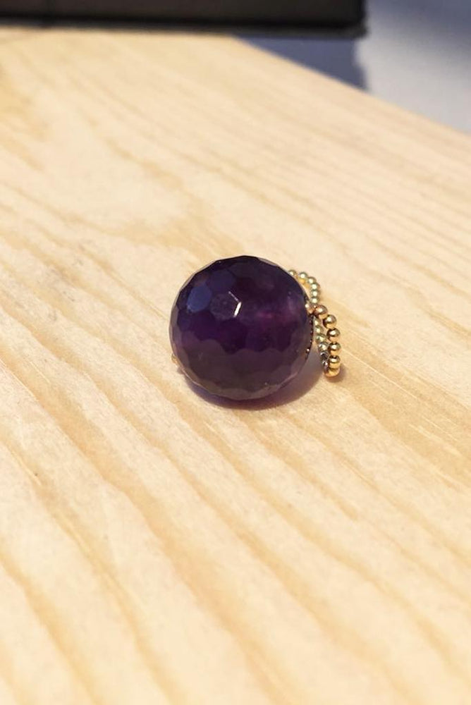 Gembud Dark Semi Precious Stone 9kt Gold Ring (5 styles available) - Gem & Tonic at The Bias Cut