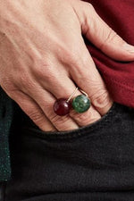 Gembud Dark Semi Precious Stone 9kt Gold Ring (5 styles available)