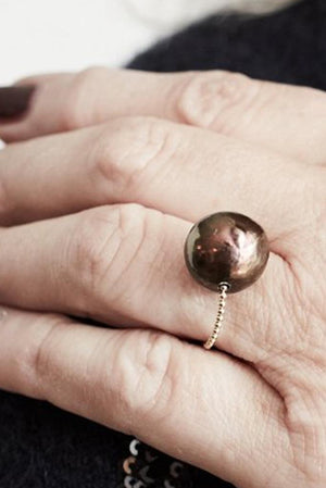Gembud Freshwater Pearl 9kt Gold Ring (4 pearl styles available) - Gem & Tonic at The Bias Cut