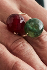 Gembud Light Semi Precious Stone 9kt Gold Ring (6 styles available)