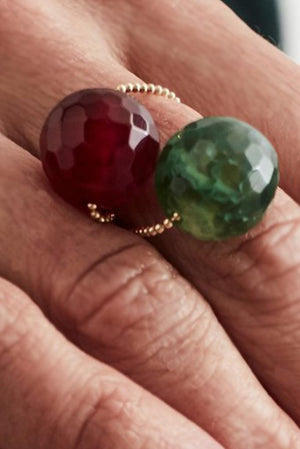 Gembud Light Semi Precious Stone 9kt Gold Ring (6 styles available) - Gem & Tonic at The Bias Cut