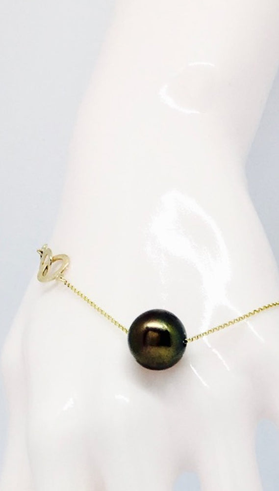Load image into Gallery viewer, Gembud Peacock Freshwater Pearl 9kt Gold Bracelet - Gem & Tonic at The Bias Cut