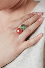 Gembud Semi Precious Stone 9kt Gold Ring (13 stones available)