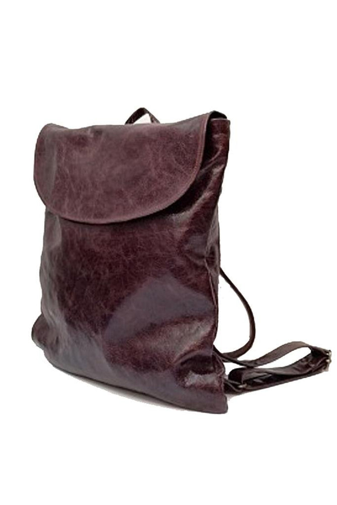 Handmade Pal Chocolate Leather Rucksack - Coco Barclay at The Bias Cut