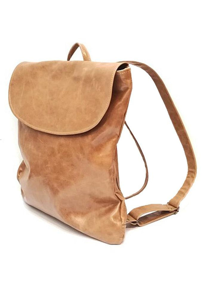 Handmade Pal Tan Leather Rucksack
