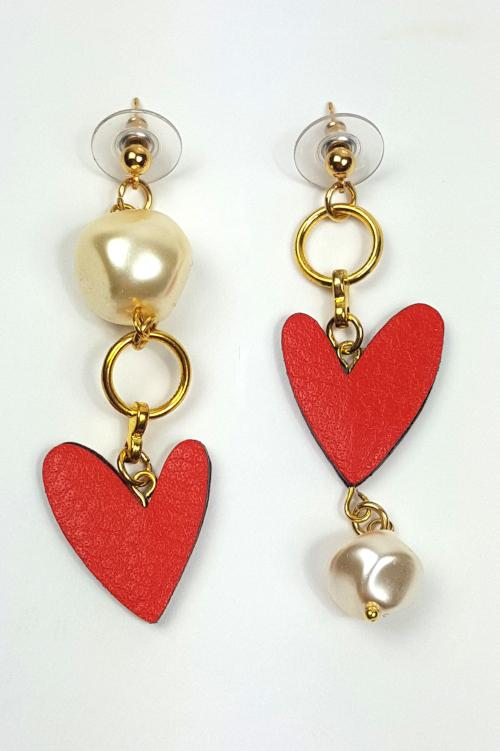 Heartbreaker Asymmetric Drop Earrings
