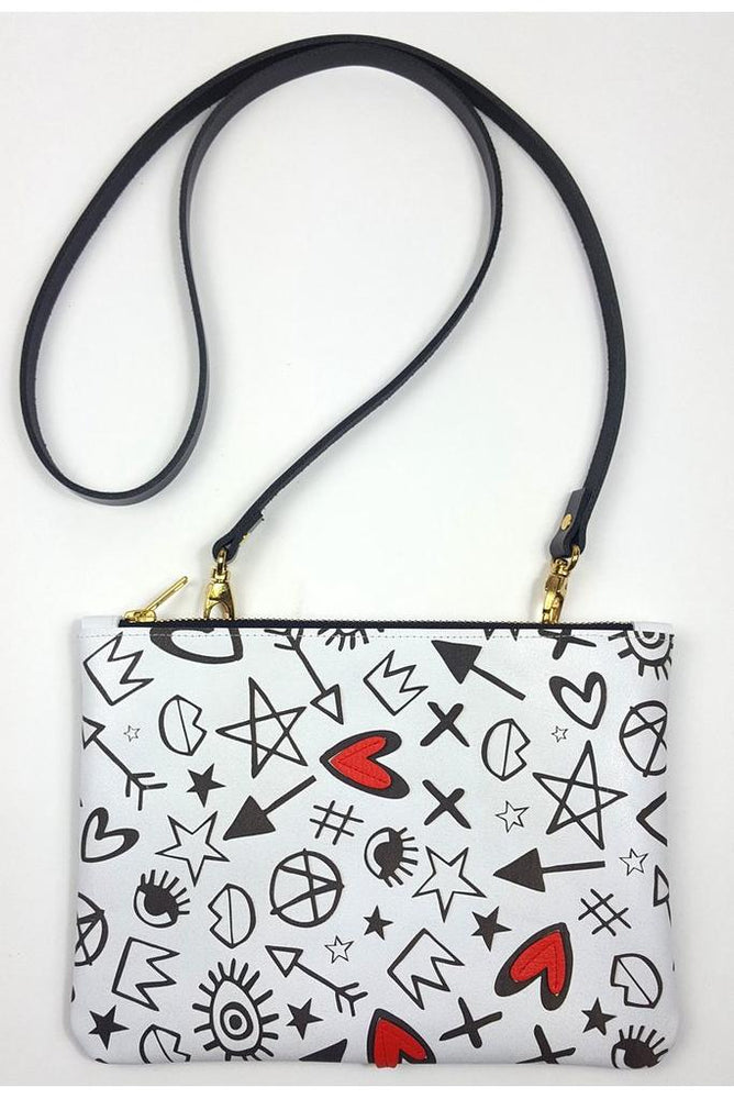 Heartbreaker Illustrated Clutch/Crossbody Bag