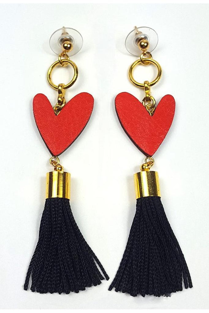 Heartbreaker Tassel Earrings - Dark Horse Ornament at The Bias Cut