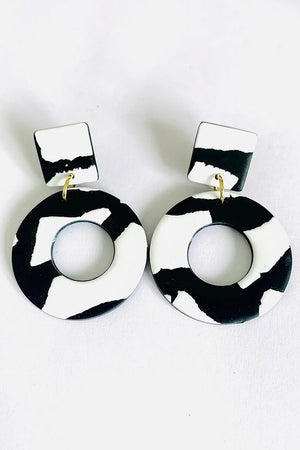 Helsinki Sky Square Stud Earrings - No Shrinking Violet
