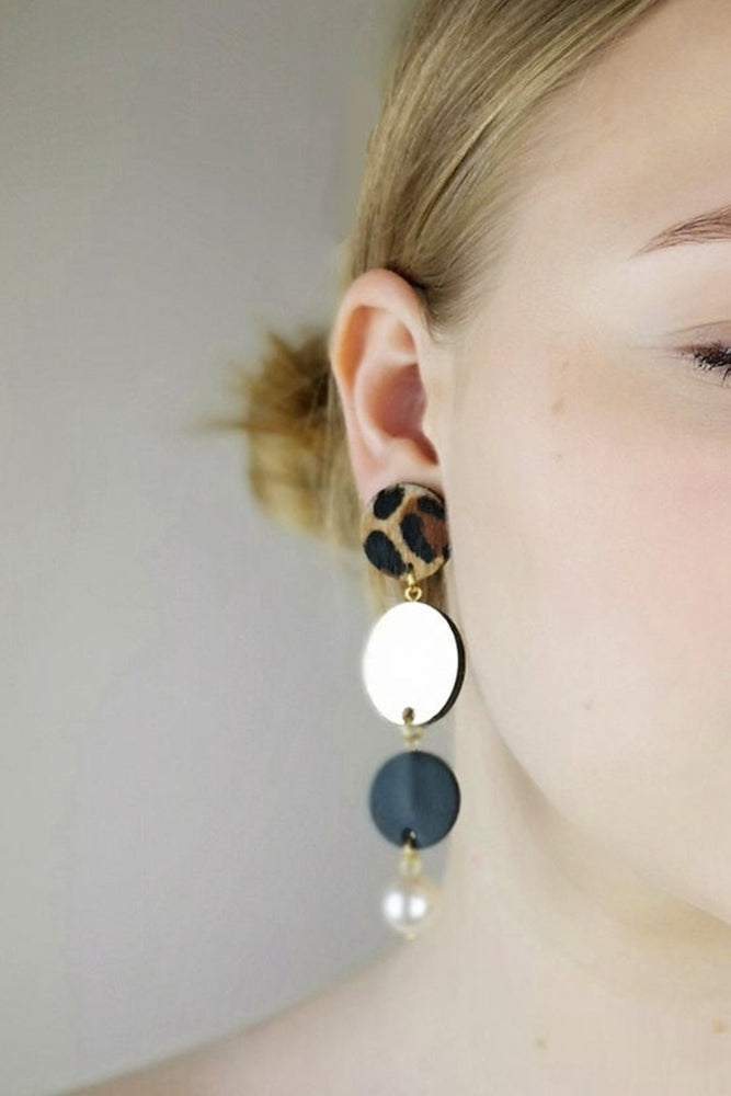 Hera Asymmetric Drop Earrings - Dark Horse Ornament at The Bias Cut