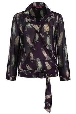 Idyllic Owls Blouse - POM Amsterdam at The Bias Cut