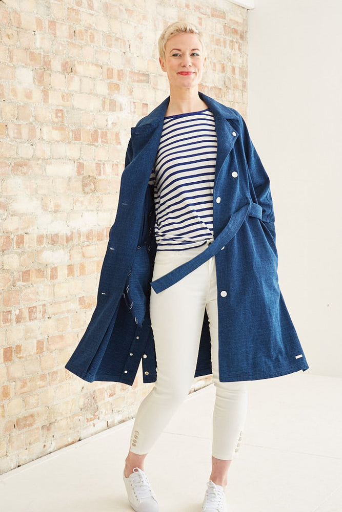 Indigo Trench Coat - Scotch & Soda at The Bias Cut