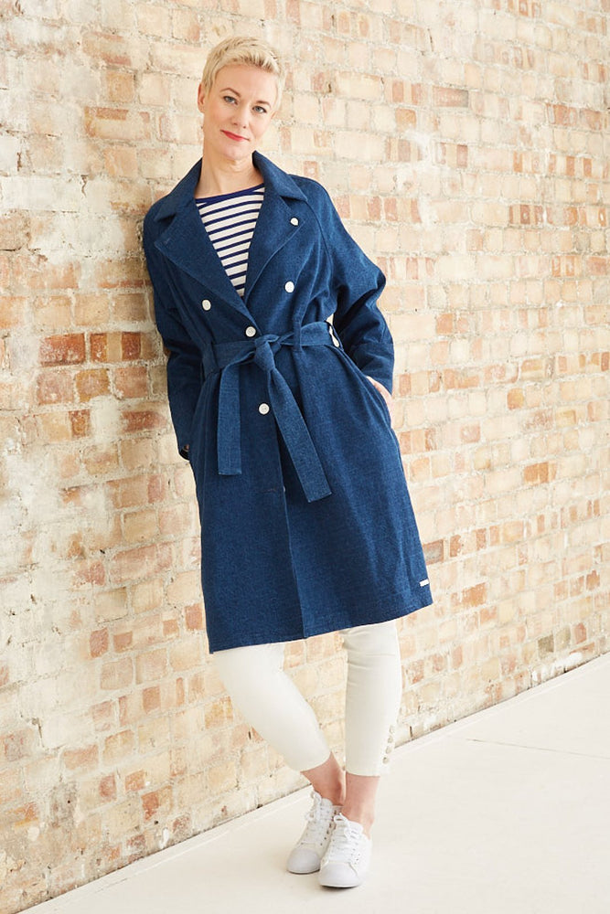 Indigo Trench Coat