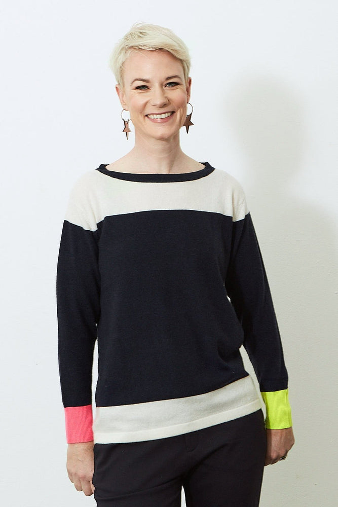 Iris 100% Cashmere Jumper - Jacynth London at The Bias Cut