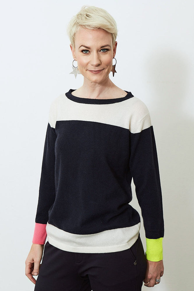 Load image into Gallery viewer, Iris 100% Cashmere Jumper - Jacynth London at The Bias Cut