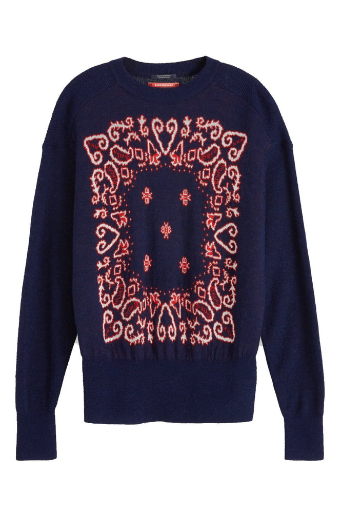 Load image into Gallery viewer, Jacquard Crew Neck Bandana Pullover - Scotch & Soda at The Bias Cut