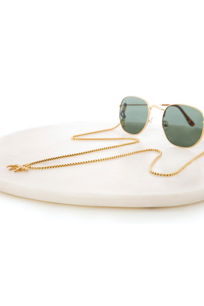 Load image into Gallery viewer, Jaguar Gold Glasses Chain - Sunny Cords at The Bias Cut