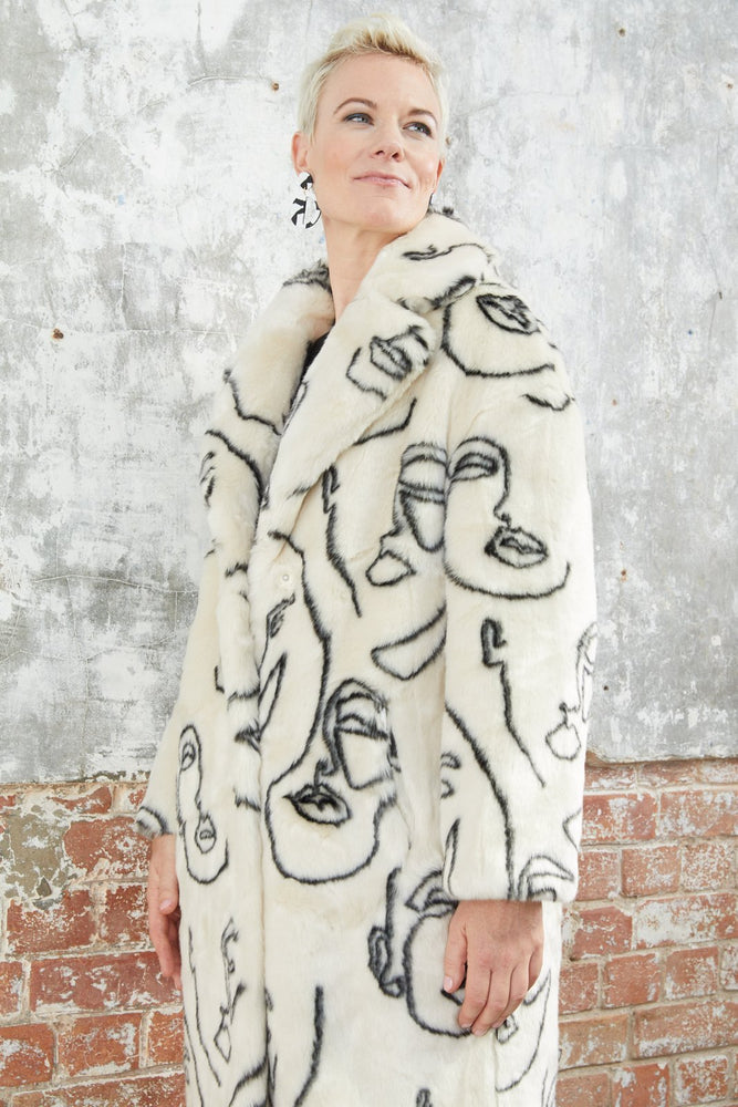 Load image into Gallery viewer, Katie Faces Faux Fur Coat - Jakke at The Bias Cut