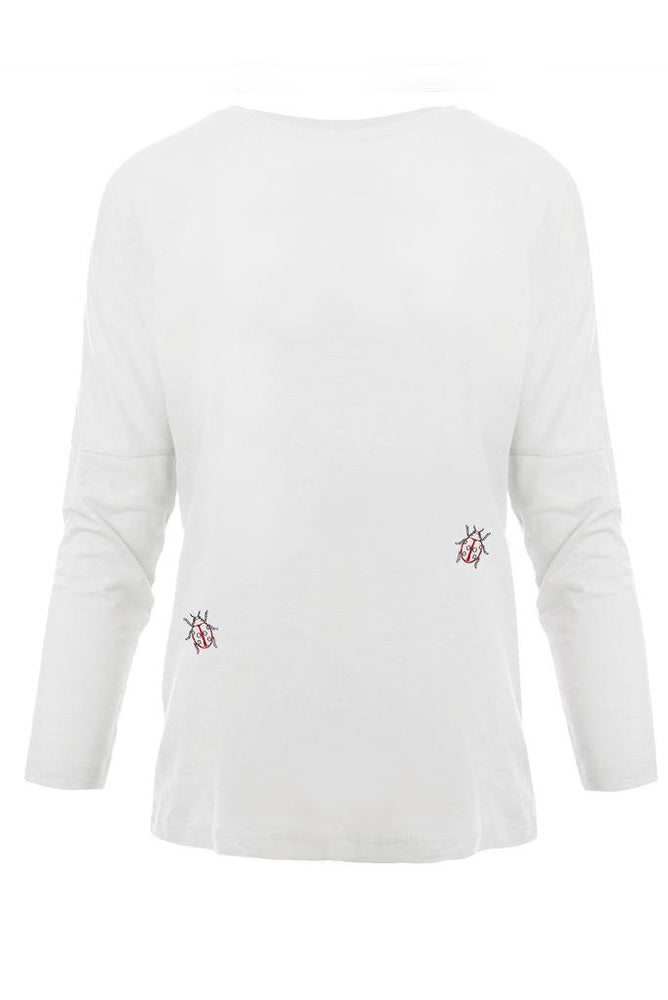Ladybird Embroidered Dropped Shoulder T-Shirt