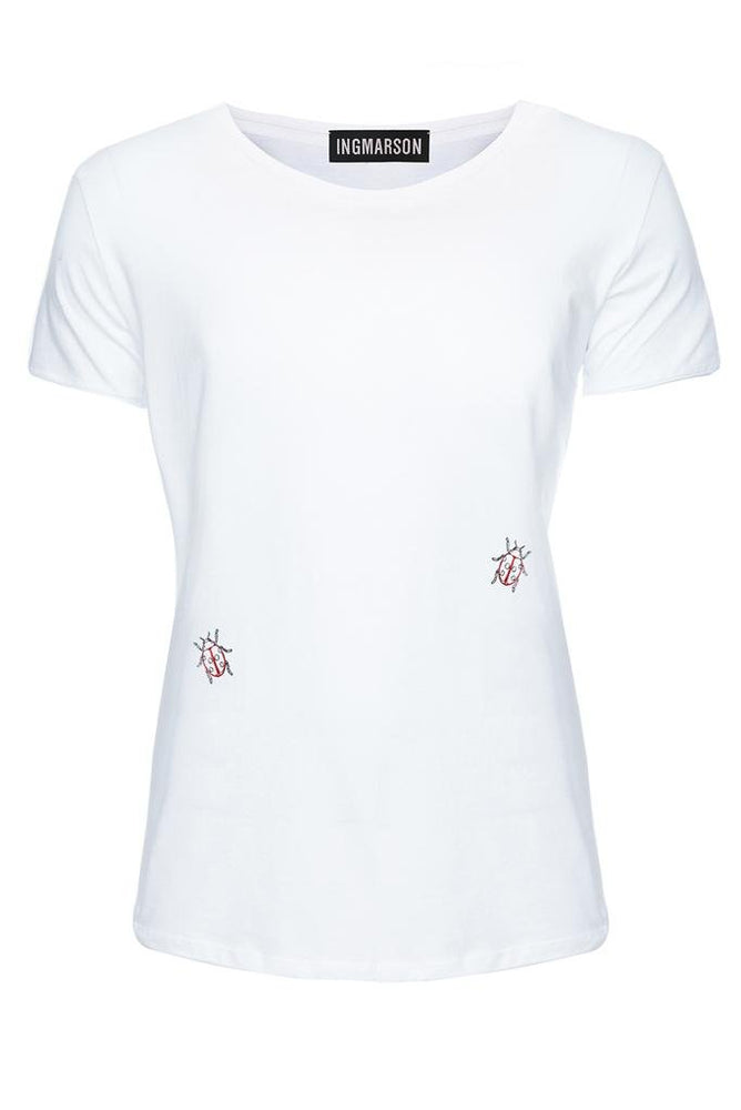 Ladybird Embroidered T-Shirt - Ingmarson at The Bias Cut
