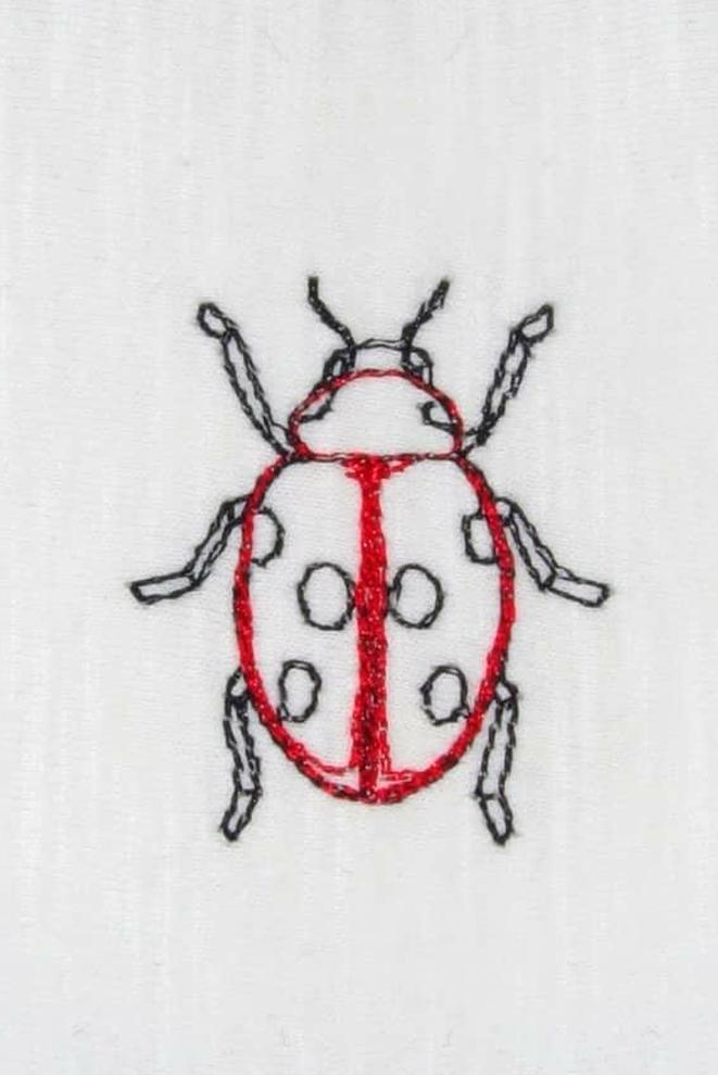 Ladybird Embroidered T-Shirt - Ingmarson