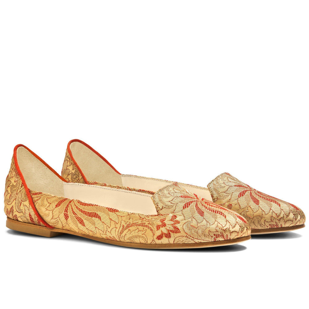 Load image into Gallery viewer, Lilian of Banaras Flat Shoes - Bote A Mano at The Bias Cut