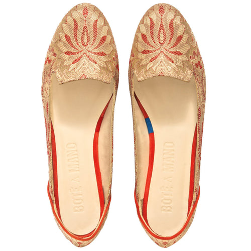 Lilian of Banaras Flat Shoes - Bote A Mano