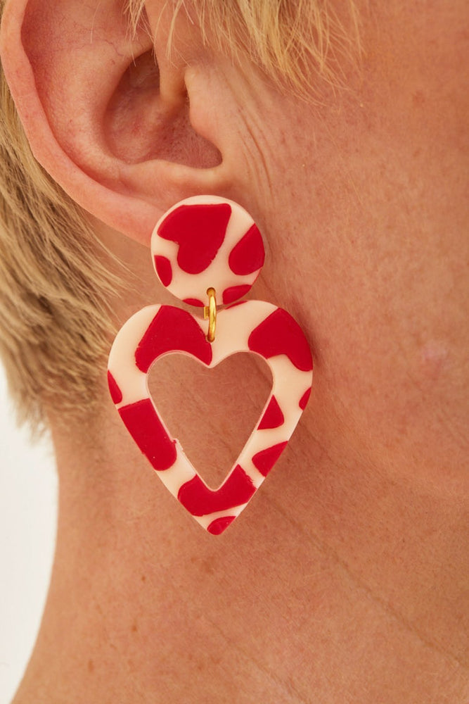 LOVE LOVE LOVE Large Earrings 🌈♥️⭐ - No Shrinking Violet