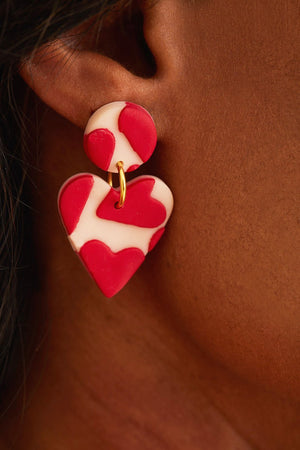 LOVE LOVE LOVE Medium Earrings 🌈♥️⭐ - No Shrinking Violet
