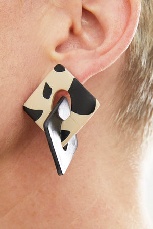 Luna Black & Leo Earring - Hattie Buzzard at The Bias Cut