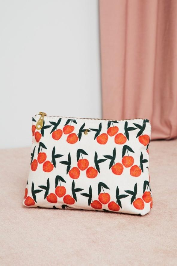 Make Up Bag in Peachy Print - Fabienne Chapot
