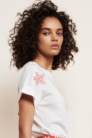 Load image into Gallery viewer, Marina Off-White T Shirt 🌈♥️⭐ - Fabienne Chapot