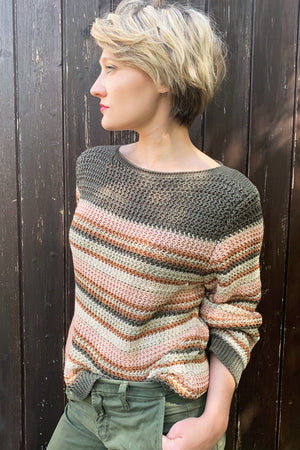 Martine Striped Sweater - Stella Forest at The Bias Cut