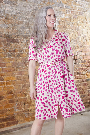 Fabienne Chapot Mila Pink Spot Shirt Dress at The Bias Cut