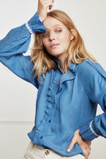 Fabienne Chapot Mimi Blue Denim Blouse