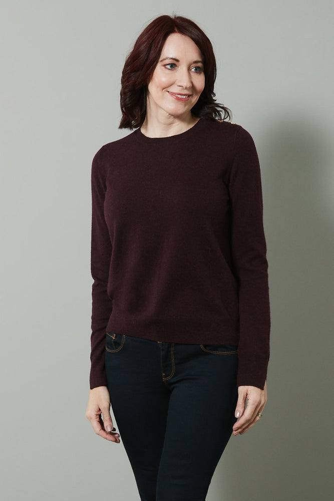 Molly Pullover Burgundy - Size XL - Fabienne Chapot
