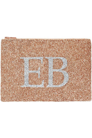 Monogram Glitter Clutch Bag (available in 7 colour ways) - I KNOW THE QUEEN at The Bias Cut