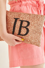 Monogram Glitter Clutch Bag (available in 7 colour ways)
