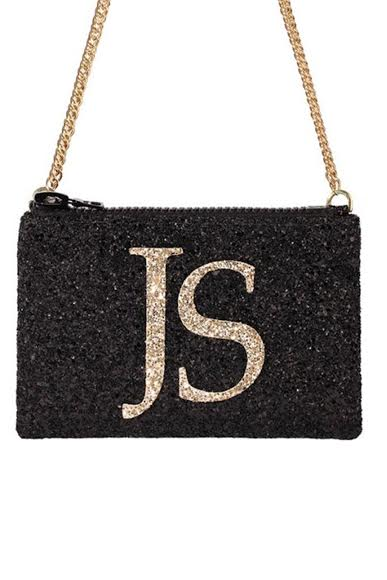 Monogram Glitter Cross-body Bag (available in 3 colour ways) - I KNOW THE QUEEN at The Bias Cut