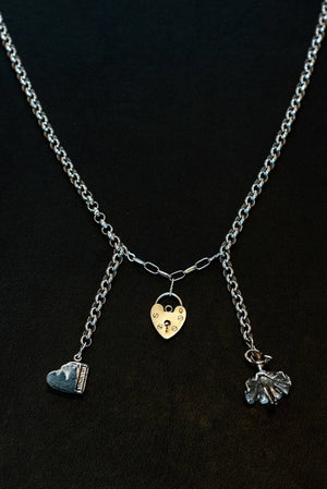 Music, Love And Dancing Sterling Silver One-Of-A-Kind Necklace - Hooked at The Bias Cut