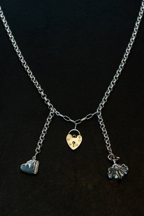 Music, Love And Dancing Sterling Silver One-Of-A-Kind Necklace 🌈♥️⭐ - Hooked