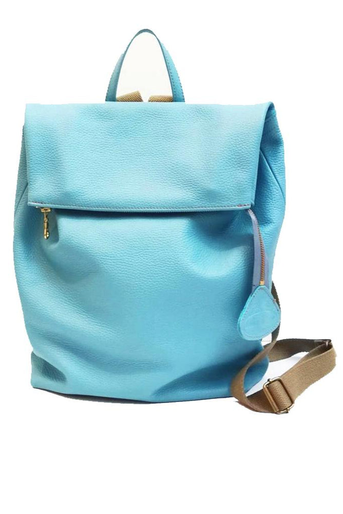 Nancy Blue Leather Rucksack